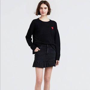 Levi's denim ruffle skirt